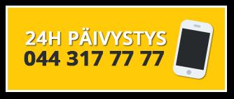 Glasek Oy 24/7 huoltopäivystys palvelee ympäri vuorokauden numerossa 044 317 7777